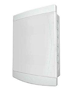 Quadro de Distribuição de Embutir 12/16 Disjuntores Porta Branca Sem Barramento Tigre