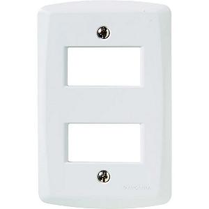 Placa 2 postos afastados 4x2 Lux Tramontina 57105-006