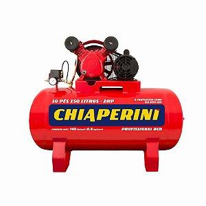 Compressor de ar média pressão 10 pcm 150 litros - Chiaperini 10/150 RED Mono