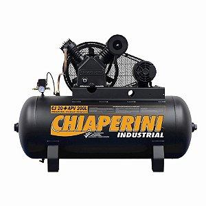 Compressor de ar alta pressão 20 pcm 200 litros - Chiaperini CJ 20+ APV 200L Trifásico