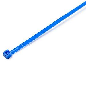 Abraçadeira de Nylon 151 x 3.7mm Azul Frontec Pacote com 100 unidades