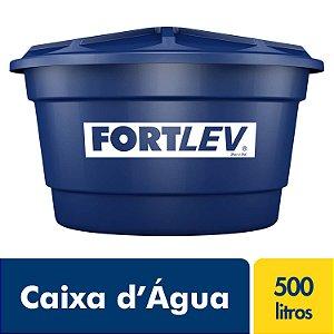 Caixa D'Água de Polietileno com Tampa Azul 500Lt Fortlev 2010005