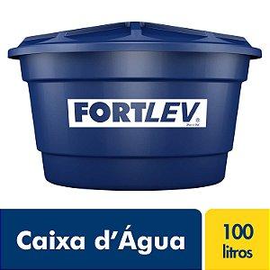 Caixa D'Água de Polietileno com Tampa Azul 100Lt Fortlev 2010001