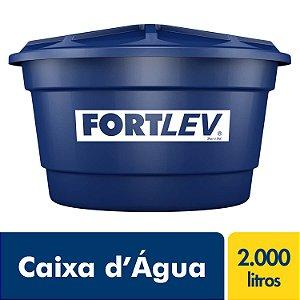Caixa D'Água de Polietileno com Tampa Azul 2000Lt Fortlev 2020001
