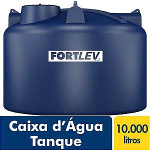 Caixa D'Água Tanque de Polietileno com Tampa de Rosca Azul 10.000Lt Fortlev