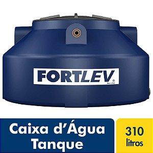 Caixa D'Água Tanque de Polietileno com Tampa de Rosca Azul 310Lt Fortlev