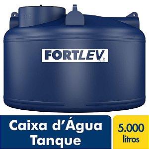 Caixa D'Água Tanque de Polietileno com Tampa de Rosca Azul 5000Lt Fortlev