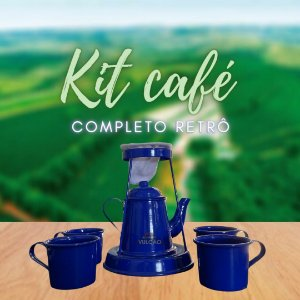 KIT CAFÉ RETRÔ COMPLETO