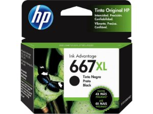 Cartucho HP 667XL Preto - 3YM81AL