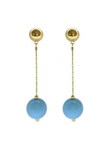 Brinco Azul - Berries Clássico Dourado