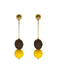Brinco Amarelo - Wood Berries Dourado