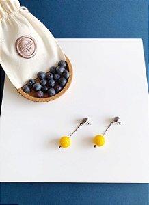 Brinco Amarelo - Berries Mini Clássico