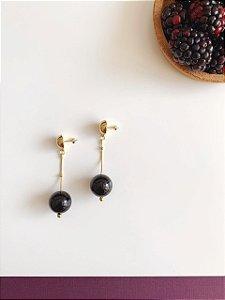 Brinco Preto - Berries Mini Clássico