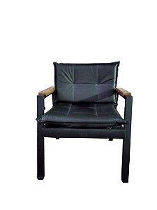 Poltrona fortaleza estilo industrial GDecor - tecido courino