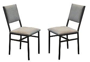 Conjunto 2 Cadeiras Portugal Chumbo estilo industrial GDecor