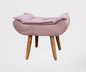 Puff pillow 60x40cm pés palito CR Decor - tecido rosê