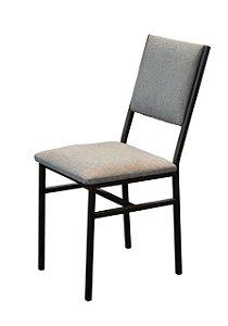 Cadeira Portugal estilo industrial GDecor -estofada chumbo
