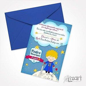Convite Personalizado O Pequeno Príncipe - 10 unid