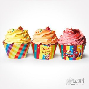 Wrappers Cupcake Alegria - 15 unid