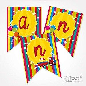Bandeirola Personalizada Alegria