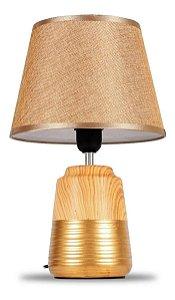 Abajur Luminária Moderno de Cerâmica Com Cúpula Para Sala Quarto