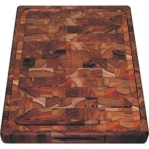 Tabua de Madeira Rustica Grande Teca Tramontina 50x38 Churrasco