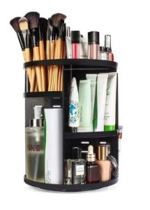 Organizador Porta Maquiagem Pincel Batom de Acrílico Giratório 360º