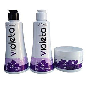 Kit Violeta Shampoo +  Condicionador + Mascara