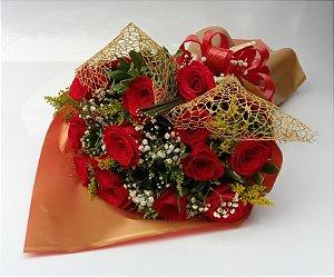 Buquê de 12 Rosas Importadas