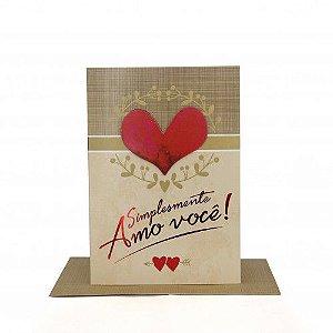 Cartão Médio Simplesmente Amo Você