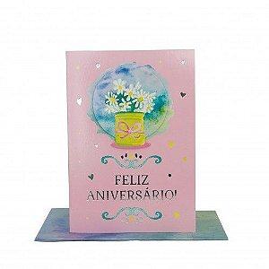 Cartão Médio Feliz Aniversário