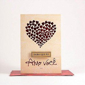 Cartão Pequeno Saiba que eu Amo você