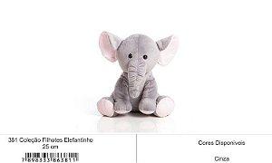 Coleção Filhotes Elefantinho 25cm