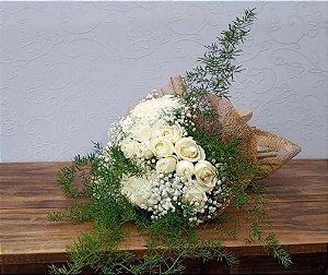 Buquê de 40 Rosas Brancas