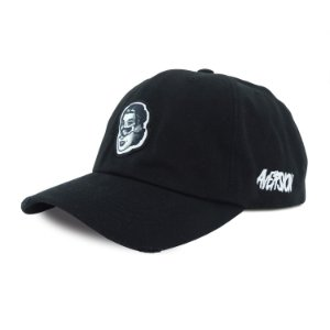 Dad Cap Aversion Outfits Co. - Model Skull Girl - Black