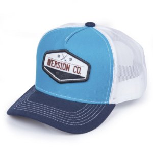 Boné Aversion Trucker Aba Curva Azul/Branco - Model Trad