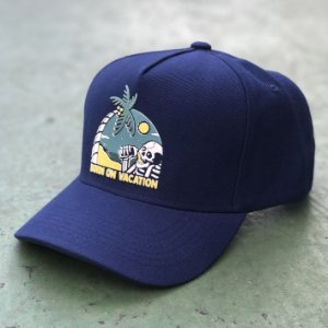 Boné Aversion Snapback Aba Curva Azul - Model Beach