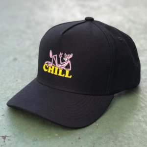 Boné Aversion Snapback Aba Curva Preto - Model Chill