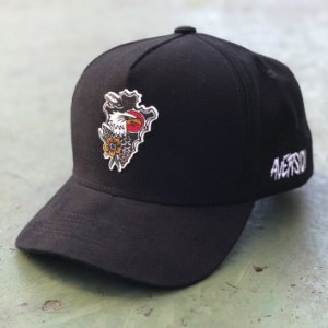 Boné Aversion Snapback Aba Curva Preto - Model Arrow