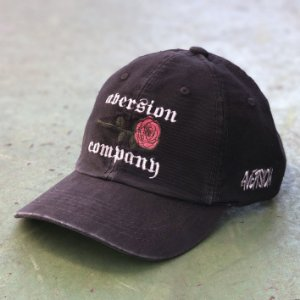 Boné Aversion Dad Hat Aba Curva Preto Estonado - Model Rose Dad