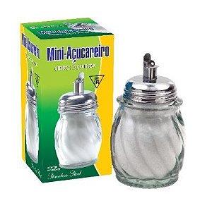 MINI ACUCAREIRO - VIDRO COM TAMPA - INOX