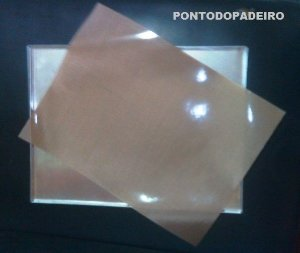 FOLHA ANTIADERENTE SILICONE - TIPO SILPAT - CARAMELO - DACOSIL