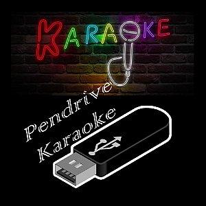 Pendrive contendo 12000 músicas karaoke nacionais e internacionais