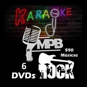 Kit MPB & Rock Nacional - 590 Músicas Karaokê