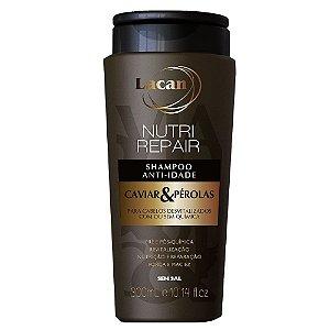 Shampoo Lacan Anti-Idade Nutri Repair Caviar & Pérolas 300ml