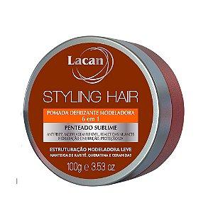 Pomada Defrizante Modeladora Lacan Styling Hair 100g