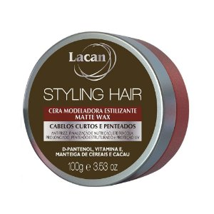 Cera Modeladora Estilizante Lacan Styling Hair Matte Wax 100g