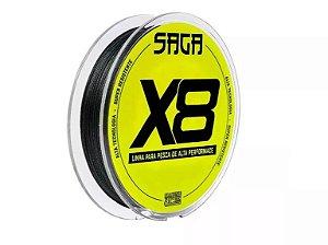 Linha Multifilamento 8X 8 Fios 150m Verde Saga X8 - 0,19mm