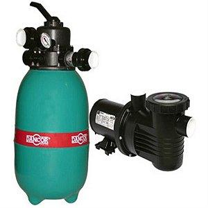 Filtro p/ piscina DFR-12 Dancor com bomba de 1/4CV monofásica 110V/220V