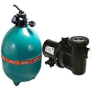 Filtro p/ piscina Dancor DFR-24 com bomba de 1CV monofásica 110V/220V